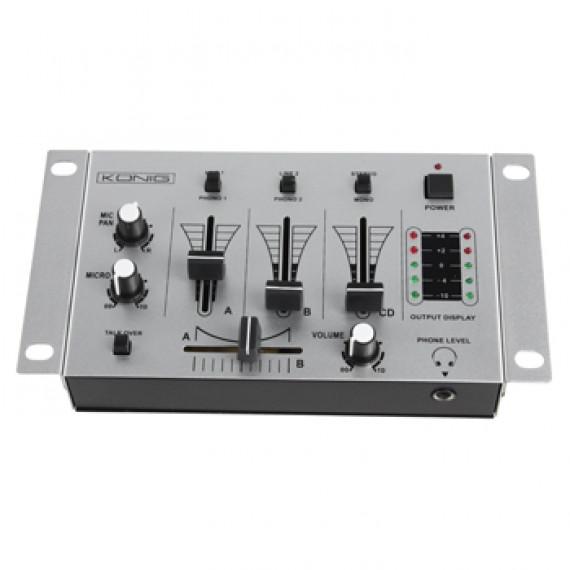 Table de mixage König Channel DJ Mixer - 3 canaux