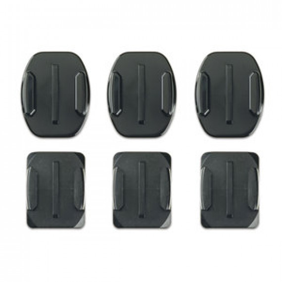 GoPro Fixations adhésives incurvées + Fixations adhésives plates