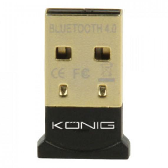 Micro adaptateur König Micro Bluetooth Dongle v4.0 sur port USB (compatible Windows / Mac / Linux)