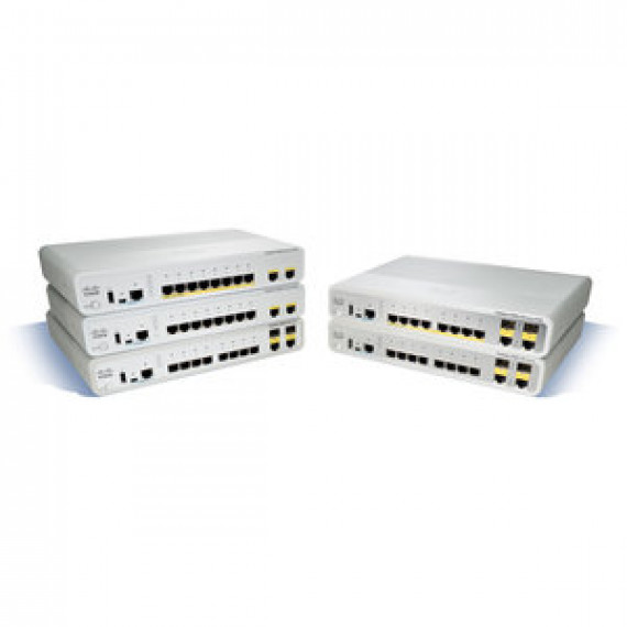 Switch Cisco Catalyst 2960C-8PC-L 8 ports 10/100 Mbps PoE Administrable Niveau 2 + 2 ports combo SFP