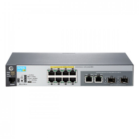 Switch HP ProCurve 2530-8G-POE+ 8 ports Gigabit administrable niveau 2 + 2 ports combo Gigabit Ethernet SFP