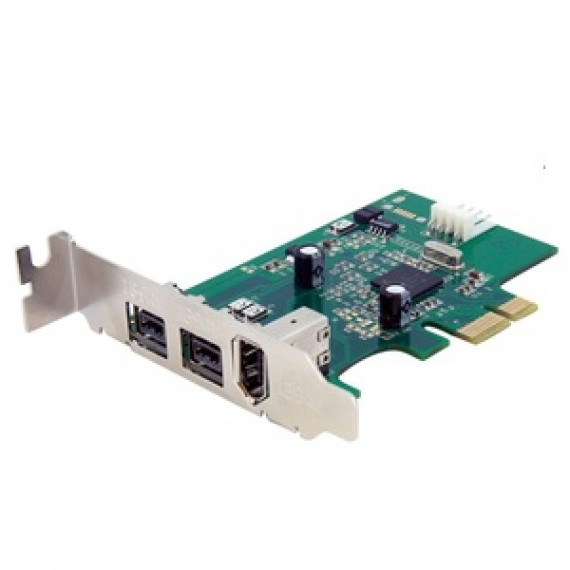 Carte contrôleur StarTech.com PEX1394B3LP - PCI-E LP (2 ports FW800 + 1 port FW400)