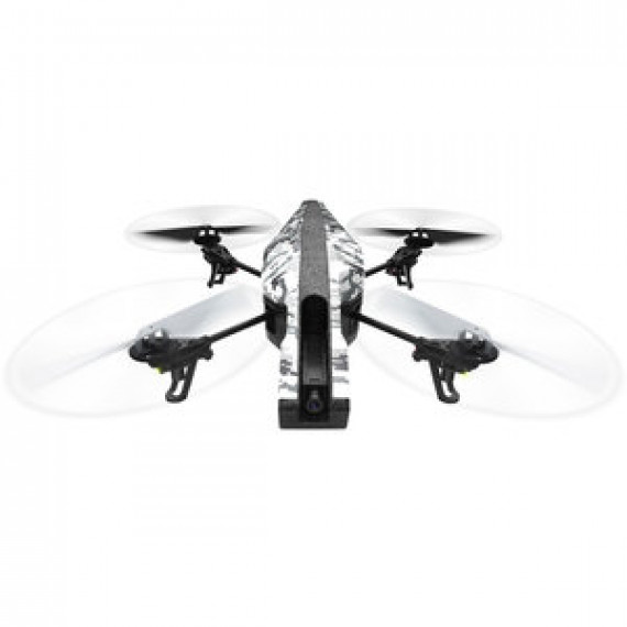 Drone Parrot AR.Drone 2 Elite Edition Version Snow - volant avec caméra HD 720p (compatible iOS et Android)