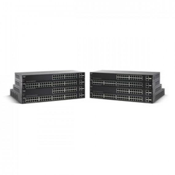 Switch Cisco Small Business SG 220-26P Smart Plus Gigabit 24 ports PoE + 2 ports combo SFP