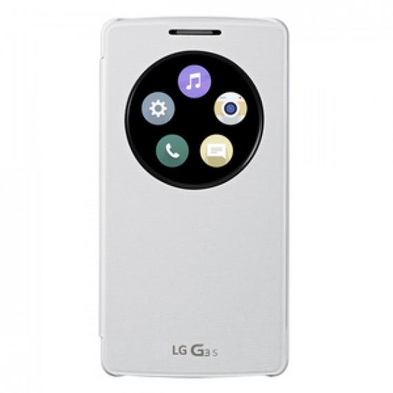 Etui LG Quick Window Circle Blanc G3 S - Etui de protection pour LG G3 S