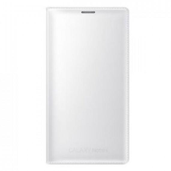 Etui portefeuille Samsung Flip Wallet Blanc Samsung Galaxy Note 4 - pour Samsung Galaxy Note 4