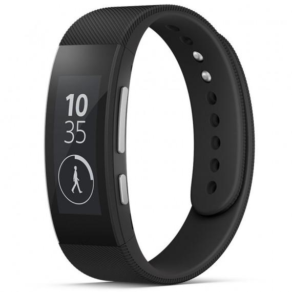 """Sony SmartBand Talk SWR30 Noir Bracelet connecté waterproof Bluetooth avec écran 1.4"""""""