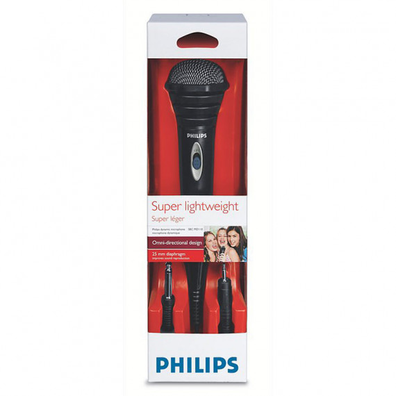 Philips SBCMD110 Microphone filaire dynamique omnidirectionnel