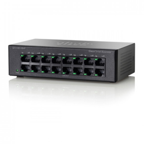 Switch 16 ports Cisco Small Business SF 110D-Ethernet 10/100 PoE