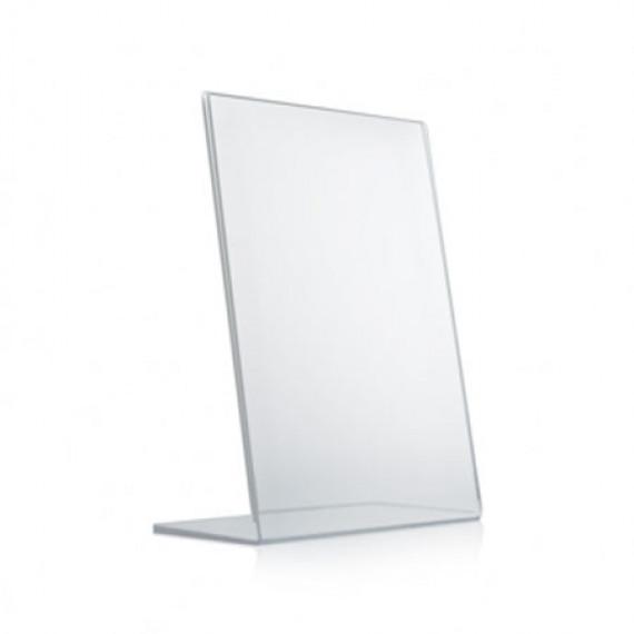 Porte visuel de comptoir transparent 300 x 210 mm Torenco Porte visuel incliné 1 face A4