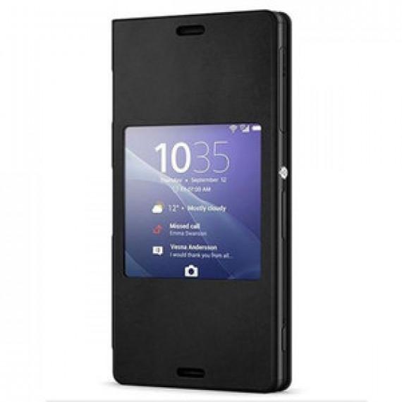 Etui folio avec fenêtre pour Sony STYLE UP NOIR Xperia Z3 Compact