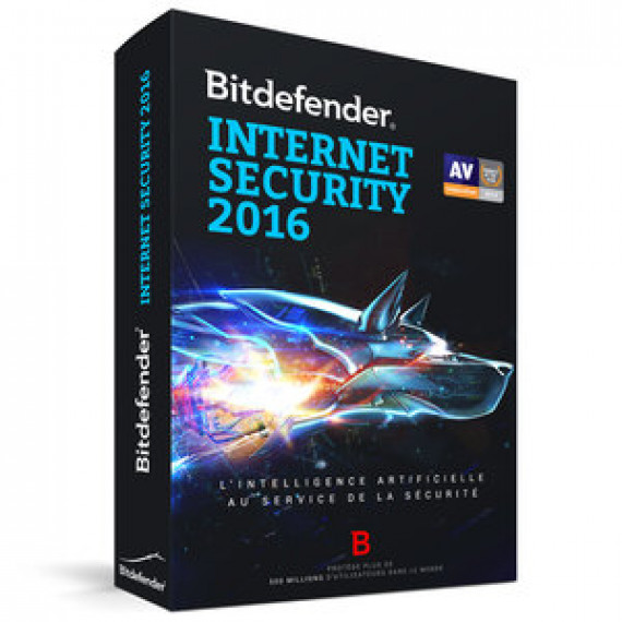 BITDEFENDER Internet Security 2016 - Licence 2 Ans 3 Postes