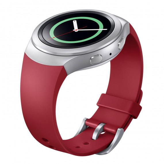Samsung Bracelet Gear S2 M Rouge Bracelet souple de taille M pour Samsung Gear S2