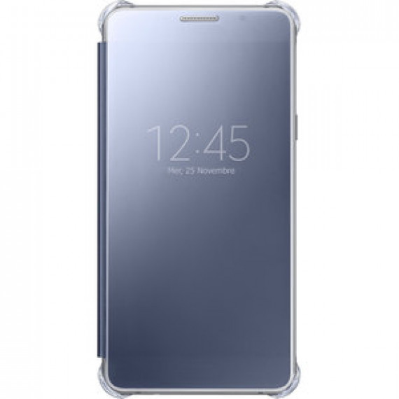 Etui à rabat Samsung Clear View Cover Noir Samsung Galaxy A5 2016 - avec affichage date/heure pour Samsung Galaxy A5 2016