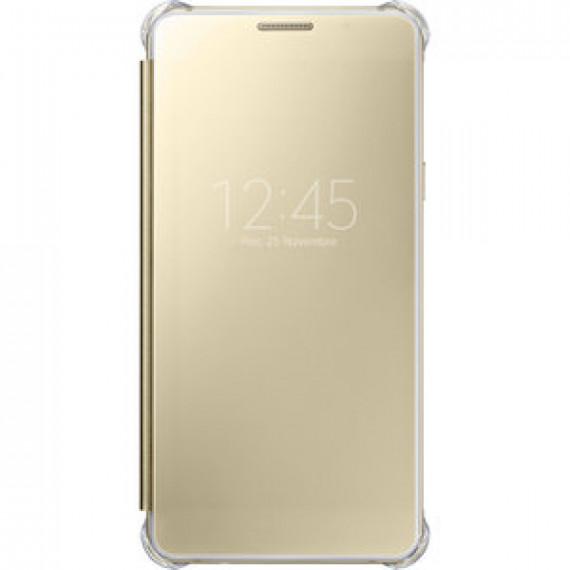Etui à rabat Samsung Clear View Cover Or Samsung Galaxy A5 2016 - avec affichage date/heure pour Samsung Galaxy A5 2016