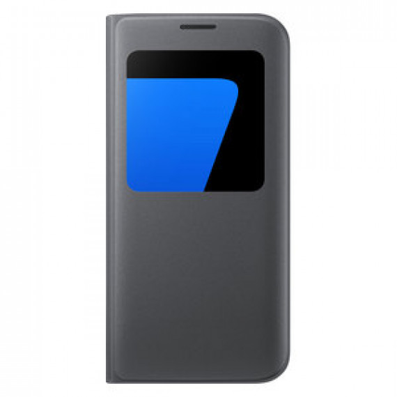 Etui folio Samsung S-View Noir Samsung Galaxy S7 Edge - pour Samsung Galaxy S7 Edge