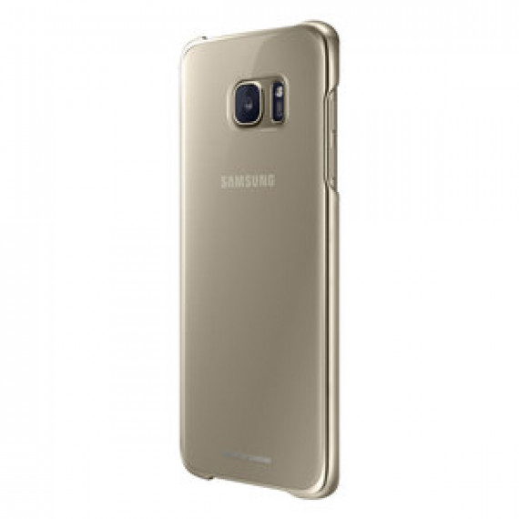 Coque transparente Samsung Clear Cover Or Samsung Galaxy S7 Edge - pour Samsung Galaxy S7 Edge