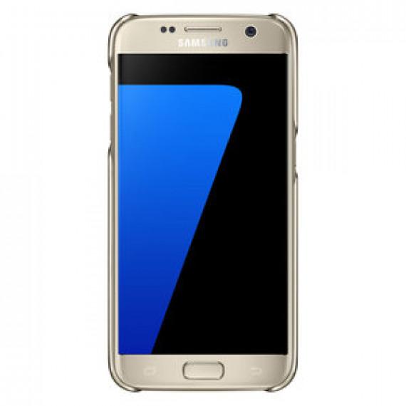 Coque transparente Samsung Clear Cover Or Samsung Galaxy S7 - pour Samsung Galaxy S7