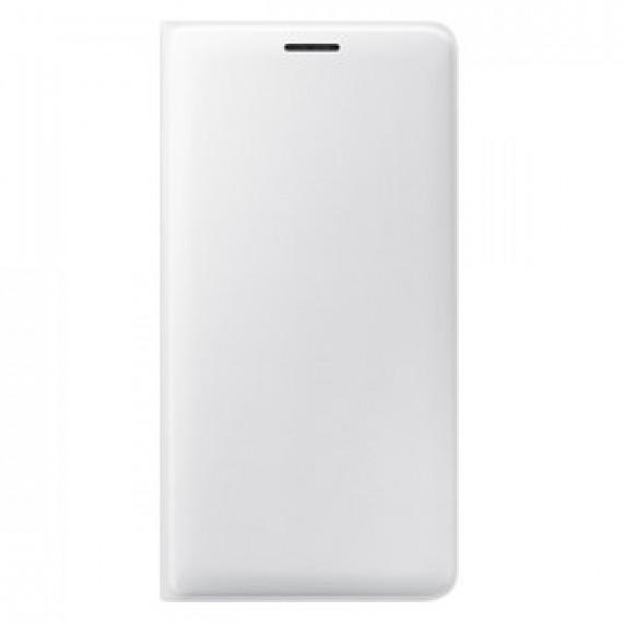 Etui portefeuille pour Samsung Flip Wallet Blanc Galaxy J3 2016
