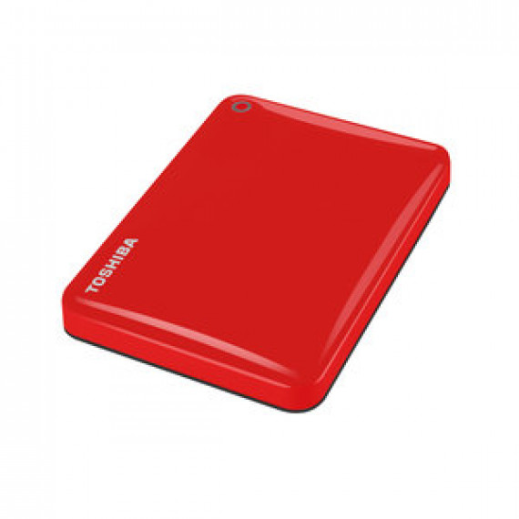 "Disque dur externe Toshiba Canvio Connect II 2 To Rouge 2.5"" sur port USB 3.0"