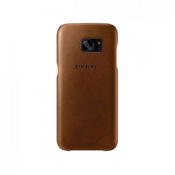 Coque en cuir pour Samsung COQUE CUIR MARRON Galaxy S7 Edge