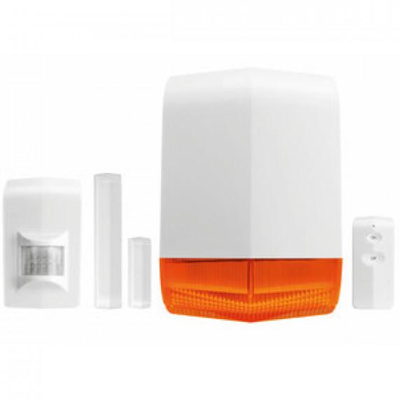 Kit de sécurité sans fil Trust Smart Home ALSET-2000 - Système de sécurité sans fil avec détecteur de mouvement, capteur d'ouverture porte et fenêtre, sirène et télécommande
