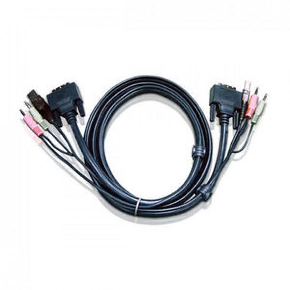 Cordon KVM Aten 2L-7D02U - DVI-D USB Single Link 1.8 m