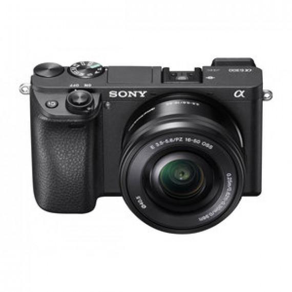 "Appareil photo Sony Alpha 6300 + Objectif 16-50 mm Noir - hybride 24.2 MP - Ecran LCD 3"" inclinable - Vidéo 4K - Wi-Fi - NFC"