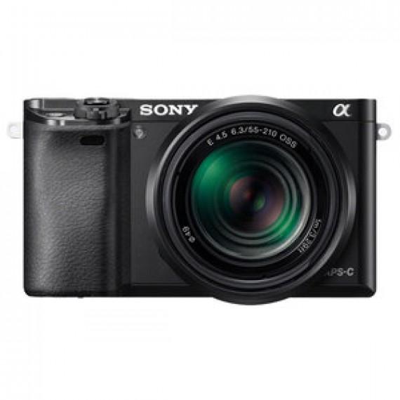 "Appareil photo Sony Alpha 6000 + Objectifs 16-50 mm & 55-210 mm Noir - hybride 24.3 MP - Ecran LCD 3"" - Vidéo Full HD - Wi-Fi - NFC"
