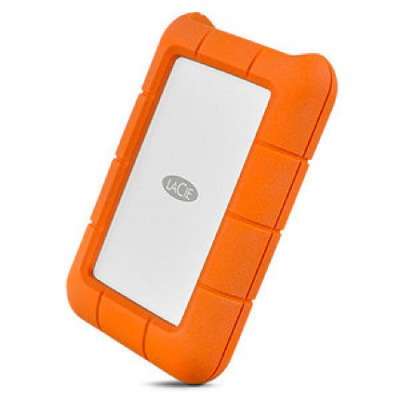 Disque dur externe antichoc 2.5'' LACIE RUGGED USB-C 2 TO sur ports USB 3.0 type C