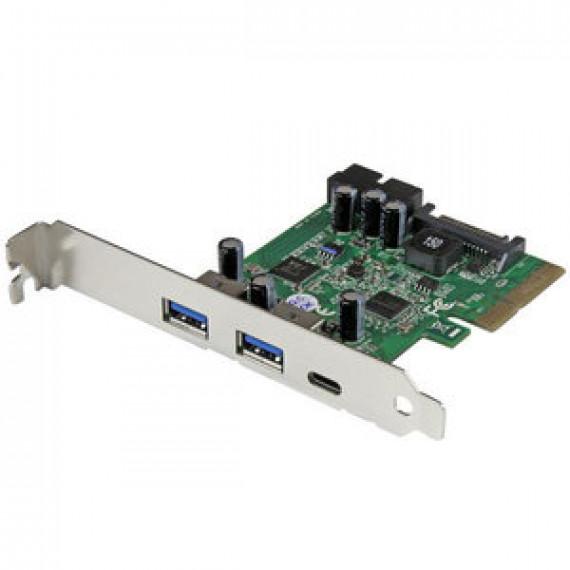 Carte contrôleur STARTECH.COM PEXUSB312EIC - PCI-E combo (5 ports - 1 USB-C 3.1 / 2 USB-A + 2 IDC)