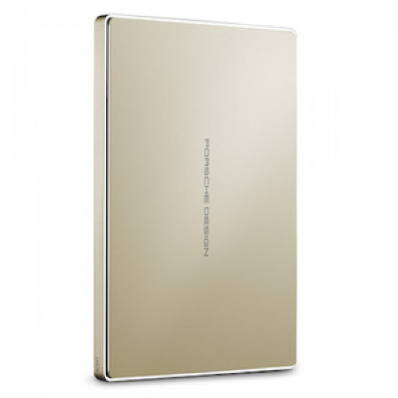 "Disque dur externe 2.5"" LACIE PORSCHE DESIGN MOBILE DRIVE 2 TO - OR en aluminium sur port USB 3.1 Type-C"