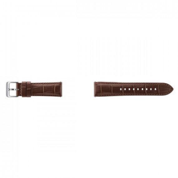 Bracelet en cuir pour Samsung Gear S3 - Samsung Bracelet Alligator Gear S3 Marron