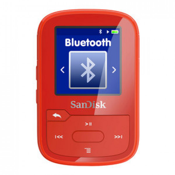 "Lecteur MP3 SANDISK CLIP SPORT PLUS ROUGE - 16Go - Ecran couleur LCD 1.44"" - Radio FM - Bluetooth - USB"