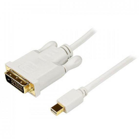 Adaptateur passif StarTech.com MDP2DVIMM10 Blanc - Mini-DisplayPort vers DVI-D (Mâle/Mâle) - 3 mètres