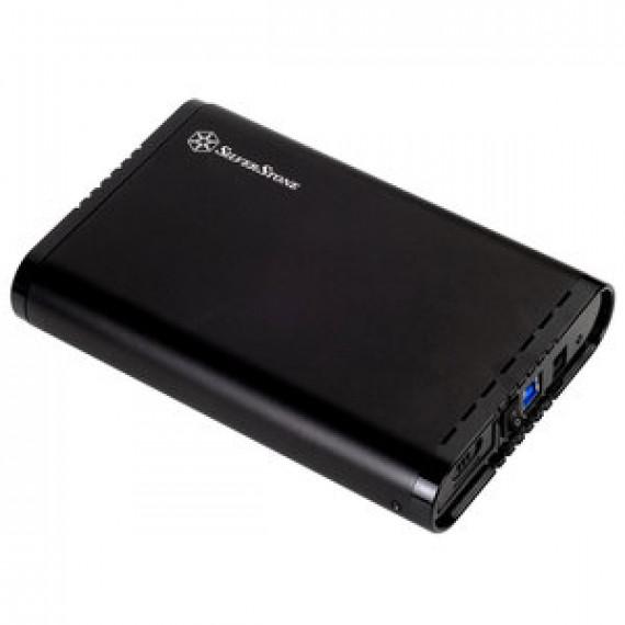 "Boîtier USB 3.0 SILVERSTONE MOBILE TS07 en aluminium pour HDD/SSD 3,5"" SATA III"