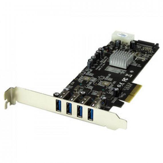Carte contrôleur STARTECH.COM PEXUSB3S42V - PCI-E (4 ports USB 3.0 Type-A 2 voies - SATA / LP4)