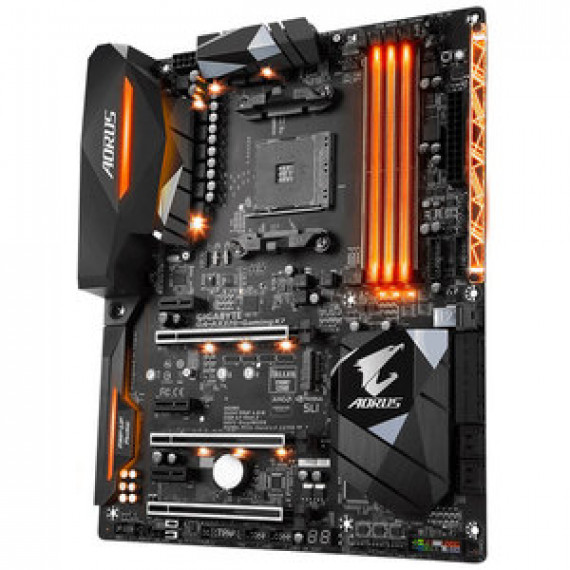 Carte mère Gigabyte AORUS GA-AX370-GAMING K7 - ATX Socket AM4 AMD X370 - 4x DDR4 - SATA 6Gb/s + M.2 + U.2 + SATA Express - USB 3.1 - 3x PCI-Express 3.0 16x