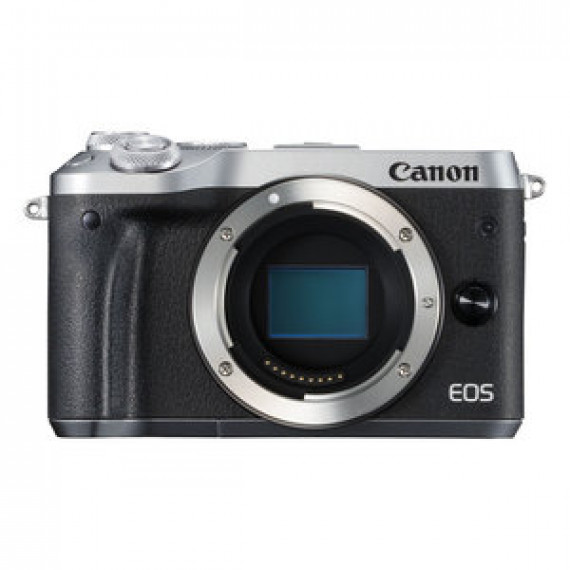 """Appareil photo 24.2 MP CANON EOS M6 ARGENT - Vidéo Full HD 60p - Dual AF - Ecran LCD tactile inclinable 3"""" - Wi-F/NFC - Bluetooth"""