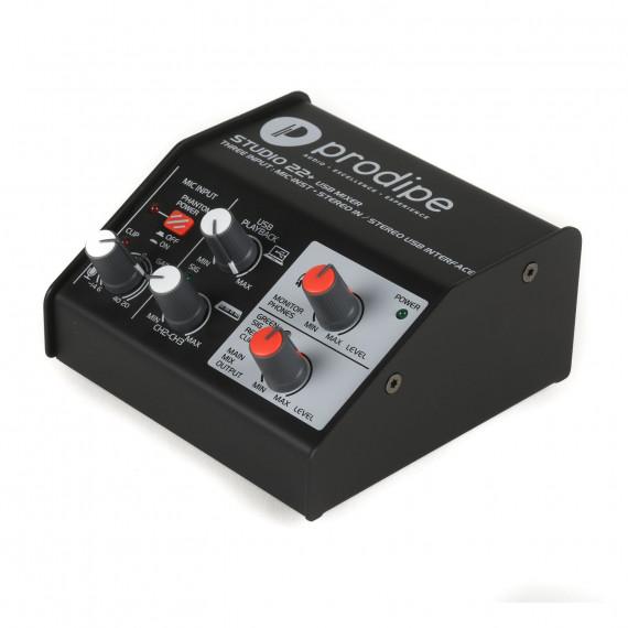 Carte Son Prodipe Studio 22+ - Interface audio USB 3 entrée 3 sorties