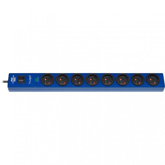 Prolongateur multiprise Brennenstuhl Hugo! (bleu marine - 8 prises) - 8 prises avec parasurtenseur - 2 mètres