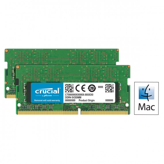 Memoire RAM Crucial for Mac SO-DIMM DDR4 16 Go (2 x 8 Go) 2400 MHz CL17 PC4-19200