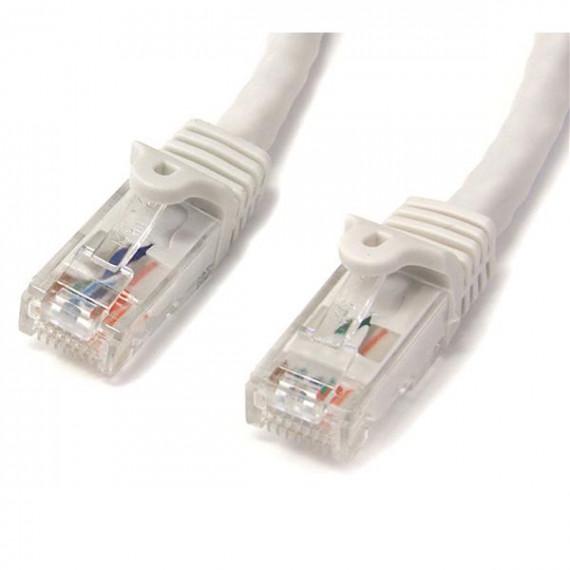 StarTech.com Câble réseau Cat6 Gigabit UTP sans crochet de 2m - Cordon Ethernet RJ45 anti-accroc - M/M - Blanc