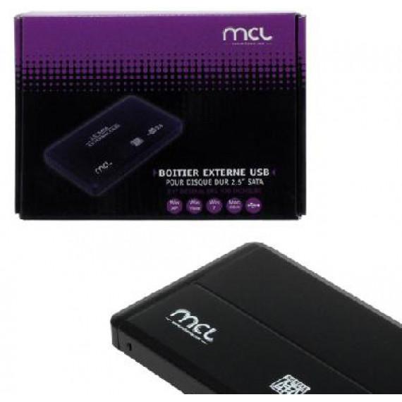 MCL Boîtier externe MCL USB 2.0 pour disque dur SATA 2,5''
