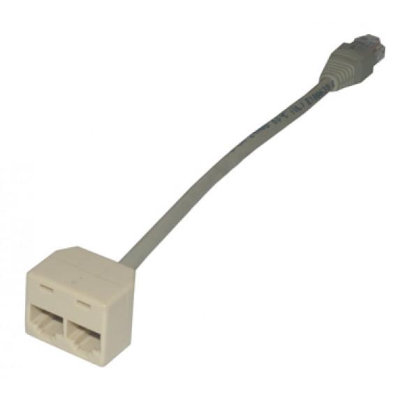 MCL Câble dédoubleur de paires RJ45 Cat5e non blindé F / M / F - Ethernet