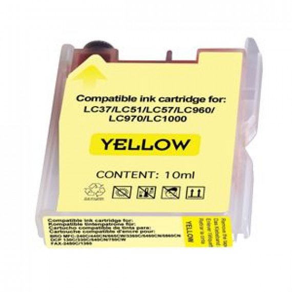 GENERIQUE cartouche compatible BROTHER 1000Y YELLOW