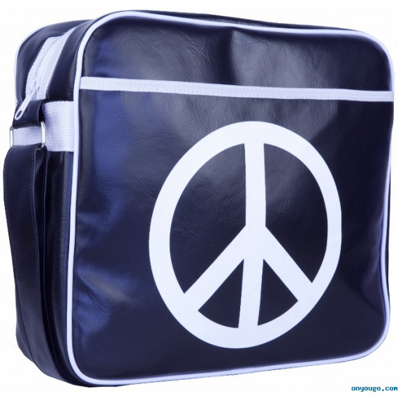 URBAN FACTORY Besace vintage pour Notebook (Peace & Love Bag)
