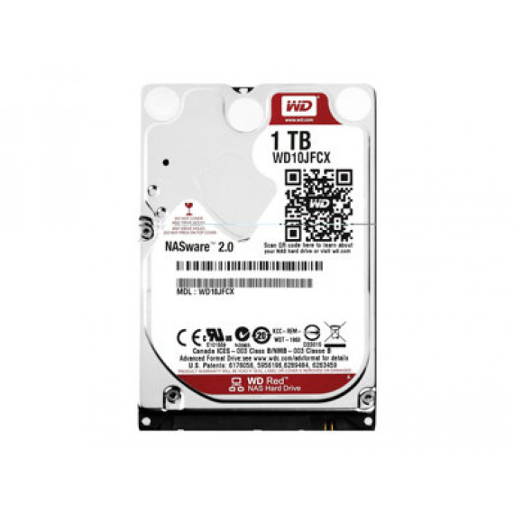 "WD Red WD10JFCX - Disque dur - 1 To - interne - 2.5"" - SATA 6Gb/s - mémoire tampon : 16 Mo"